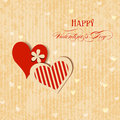 Valentine hearts greeting card retro style Stock Photos