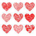 Valentine hearts red for your design Royalty Free Stock Photo