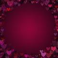 Valentine Hearts Vignette Frame Background Royalty Free Stock Photo