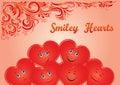 Valentine Holiday Hearts Faces Royalty Free Stock Photo