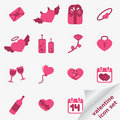 Valentine icon set Stock Images