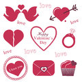 Valentine icons Royalty Free Stock Image