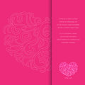 Valentine invitation card illustration of Stock Photography