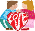 Valentine Kids Stock Photos