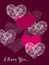 Valentine love card Royalty Free Stock Images