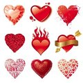 Valentine love hearts Royalty Free Stock Photos