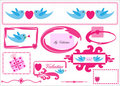Valentine / Love icons greetings card Stock Photos