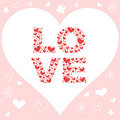 Valentine love invitation card with hearts Stock Photo