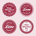 Valentine love labels Royalty Free Stock Photos