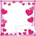Valentine love letter border