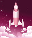 Valentine love rocket Royalty Free Stock Photo