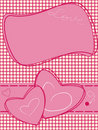 Valentine motives greeting card Royalty Free Stock Images