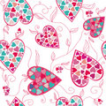 Valentine pattern with love hearts , . Royalty Free Stock Photography