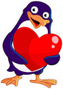 Valentine penguin Royalty Free Stock Images