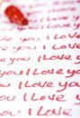 Valentine Photo Concept: Love letter Stock Photography