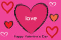 Valentine a pink happy valentines day card Stock Photos