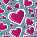Valentine pink love heart pattern Royalty Free Stock Photo
