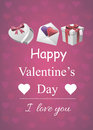 Valentine poster vector illustration of st valentine's day can be used as greeting card or flyer Royalty Free Stock Photo