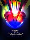 Valentine rays Stock Images