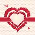 Valentine red and pink hearts l Royalty Free Stock Photos