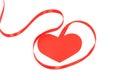 Valentine ribbon with hearts Stock Photo