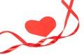 Valentine ribbon with hearts Stock Photography