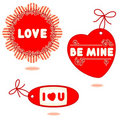 Valentine or romantic gift tag Stock Image