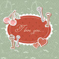 Valentine romantic love card with keys and hearts Royalty Free Stock Photo