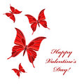 Valentine's butterflies Royalty Free Stock Photography