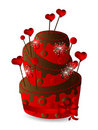 Valentine's cake Royalty Free Stock Images