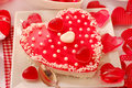 Valentine`s cake with jelly Stock Photography