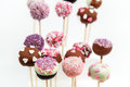Valentine's cake pops Stock Photography