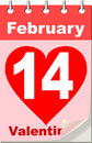 Valentine's calendar Stock Photography