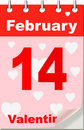 Valentine's calendar Stock Photos