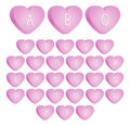 Valentine s candy font an uppercase set of pink day candies Royalty Free Stock Image