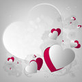 Valentine s card background with design hearts and text Royalty Free Stock Photography