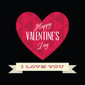 Valentine s day abstract happy text on special background Royalty Free Stock Image