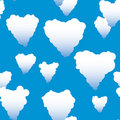 Valentine's day abstract seamless background Royalty Free Stock Photo