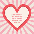 Valentine s day background with copy space illustration Stock Photography