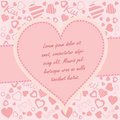 Valentine s day background with copy space illustration Royalty Free Stock Photography