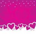 Valentine s day background design a with random hearts Stock Photography