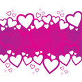 Valentine s day background design a with random hearts Stock Photos