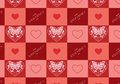 Valentine s day background festive seamless Stock Images