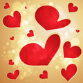 Valentine s day background golden Royalty Free Stock Images