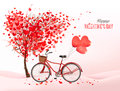 Valentine's Day background with a heart shaped tree