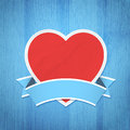 Valentine s day background heart on the wooden texture vector illustration Royalty Free Stock Image