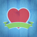 Valentine s day background heart on the wooden texture vector illustration Royalty Free Stock Images