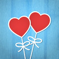 Valentine s day background heart on the wooden texture vector illustration Stock Photo
