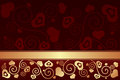 Valentine s day background with hearts vector illustration Royalty Free Stock Photo