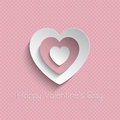 Valentine s day background pink valentines with a polka dot pattern Royalty Free Stock Photos